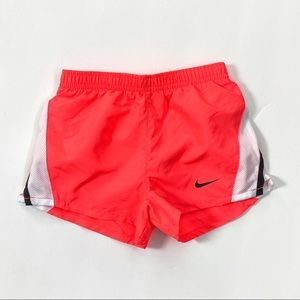 Nike dri-fit hot pink white elastic waist shorts